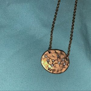 Jewelry - VIRGO constellation necklace gold colored